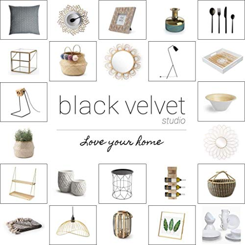 Black Velvet Studio Perchero Colgador Espejo Rococo Vintage Decorativo - Metal Dorado Boho Chic - Pasillo Baño Entrada - Étnico Nórdico - Bonito ...