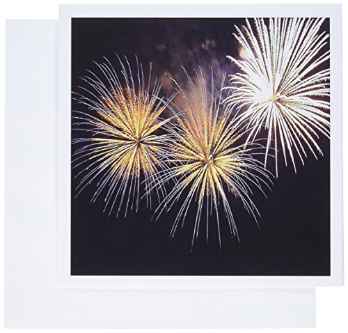 3dRose Fireworks - fireworks, golden fireworks, new year, party, bonfire night, diwali, divali - Greeting Cards, 6 x 6 inches, set of 12 (gc_46996_2)]()