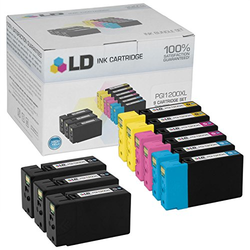 LD © Compatible Replacements for Canon PGI-1200XL 9PK HY Ink Cartridges: 3 9183B001 Black, 2 9196B001 Cyan, 2 9197B001 Magenta, & 2 9198B001 Yellow for Maxify MB2020, & MB2320