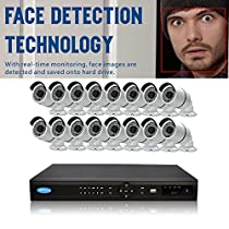OWLTECH 16 Channel Face Detection 5MP NVR with preinstall 4TB HDD - 16 x 4MP 3.6mm IP Bullet Camera with Built in Microphone plus 100ft Cable and Accessories