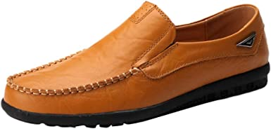Clearance!Leather Men Lazy Shoes Soft