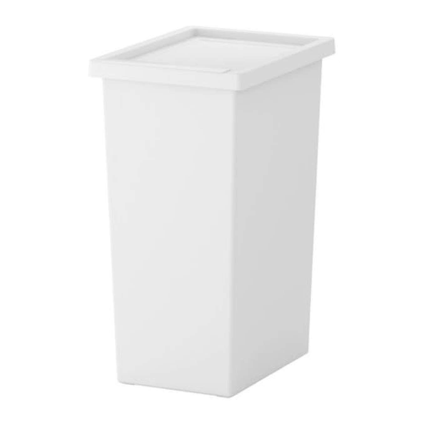 IKEA ふた付きフィルア容器 ホワイト 201.938.99 サイズ 11ガロン B07HFHKNYT