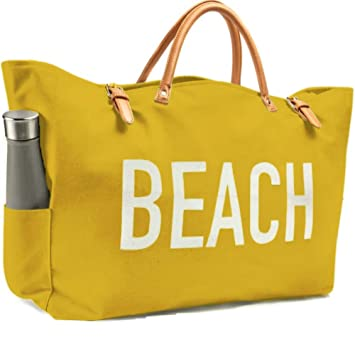 d48090826 Amazon.com: KEHO Fashion Beach Bag (Cute Travel Tote), Large and Roomy,  Waterproof Lining, Multiple Pockets For Storage (Tuscan Sun): Keho