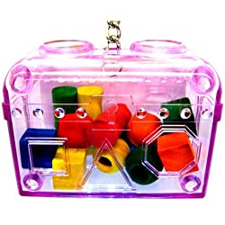 60019 LARGE PURPLE TREASURE CHEST birds foraging toys cages parrot plastic unbreakable …