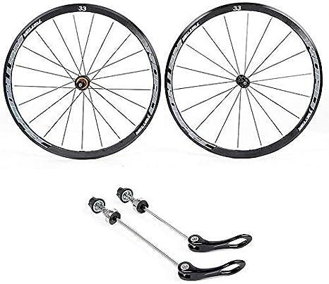 WYBD.Y Ruedas de Ciclismo 700C, Rueda Trasera y Rueda Delantera Ruedas de Bicicleta de aleación de Aluminio de Doble Pared Ruedas de Bicicleta de Carretera Liberación rápida 8 9 10 11 Velocidad: