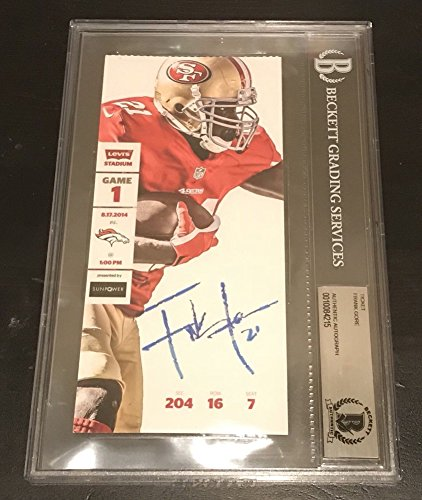 Frank Gore Signed Autograph Sf 49Ers Ticket First Game @ Levi'S Beckett Certified Slabbed Auto