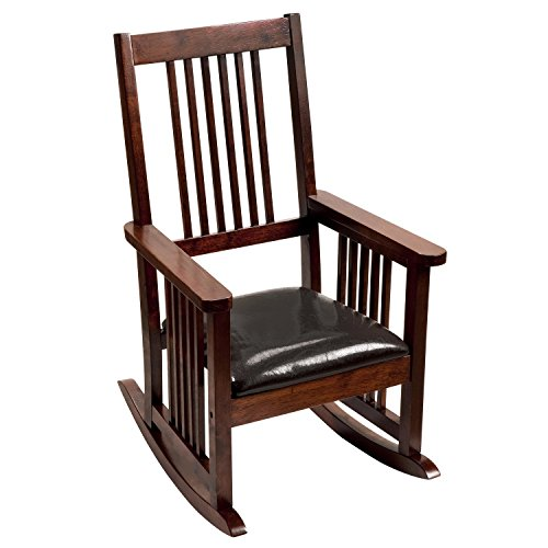 Giftmark Mission Style Kids Rocking Chair with Upholstere...