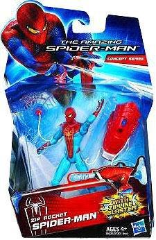 Amazing SpiderMan Movie 3.75 Inch Action Figure Zip Rocket SpiderMan Zipline Blaster! by Hasbro