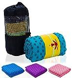 Hot Yoga Mat Towel, SoraFitness Non Slip Super Absorbent Machine Washable Fast Drying