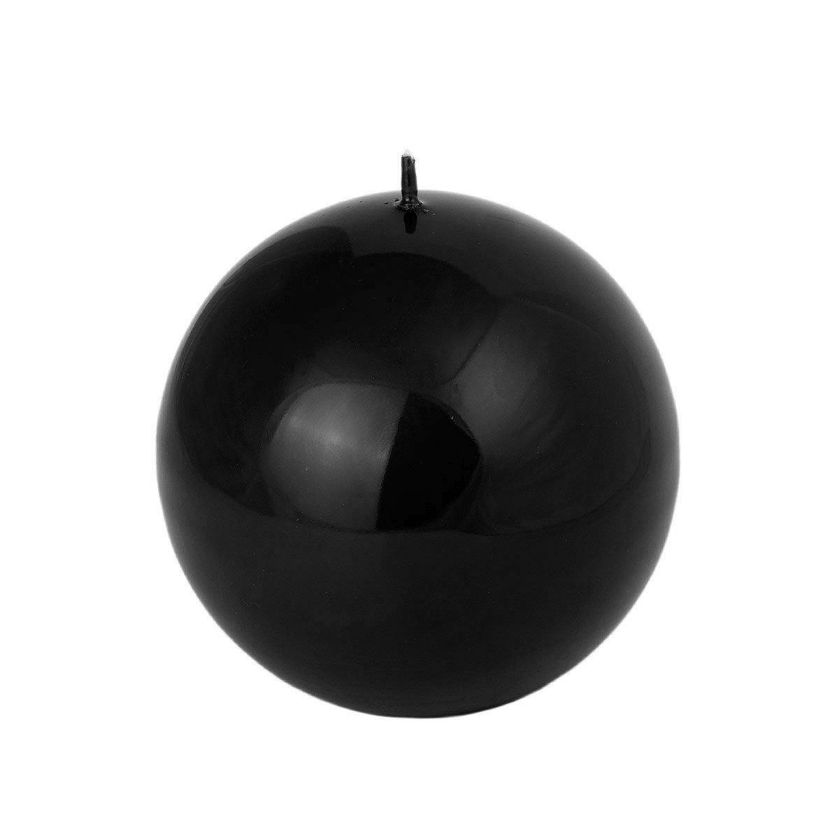 Nero Lucido candela sfera in 4 diverse dimensioni e nel Set, nero, Komplettset alle 4 Grö ß en Komplettset alle 4 Größen Adpal Kerzenmanufaktur