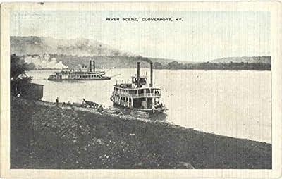 River Scene Cloverport, Kentucky Original Vintage Postcard