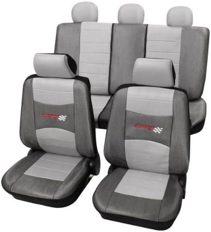 Sitzbezugset Universal Carbon Silber 11 Teilig Größe Sab 1 Vario Auto