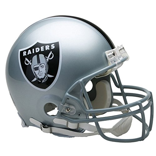 (Oakland Raiders Officially Licensed Proline VSR4 Authentic Football Helmet)