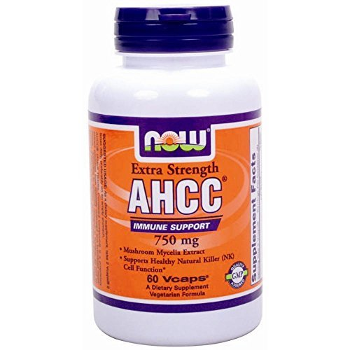 NOW Extra Strength Ahcc Mushroom Mycelia Extract 750mg 60 Vcaps (1) by NitikanShop