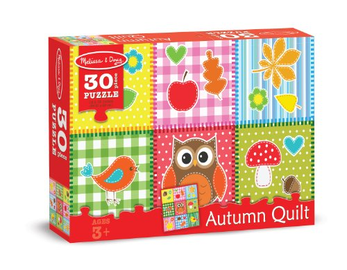 Melissa & Doug Autumn Quilt Fall Favorites Jigsaw Puzzle (30 pcs)