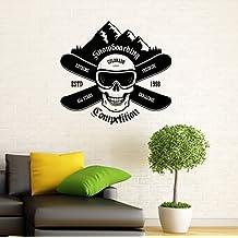 Snowboarding Wall Decal Snowboard Vinyl Sticker Housewares Extreme Winter Sport Home Interior Wall Decor (8s01b)