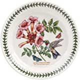 PORTMEIRION BOTANIC GARDEN BIRDS Salad plate ruby-throated hummingbird