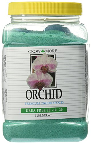 - Grow More 7517 Urea Free Orchid 20-10-20 Fertilizer, 3-Pound