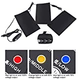 Alomejor Electric USB Heating Pads, 5V 2A 8.5W Lightweight Heated Pads Set for Outdoor Winter Camping