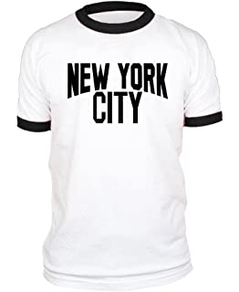 b2770c287 Amazon.com: New York City John Lennon Ringer Tee T-Shirt Retro Style ...