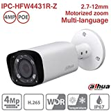 Dahua Bullet Camera IPC-HFW4431R-Z 4MP Varifocal 2.7-12mm IP PoE Network Outdoor Camera ONVIF H.265 IP67 International Version