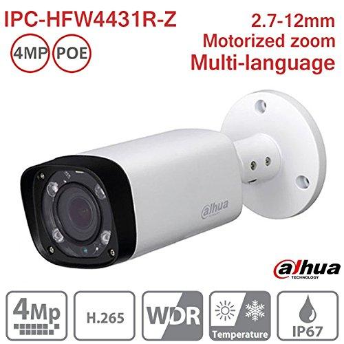 Dahua Bullet Camera IPC-HFW4431R-Z 4MP Varifocal 2.7-12mm IP PoE Network Outdoor Camera ONVIF H.265 IP67 International Version by Hansen