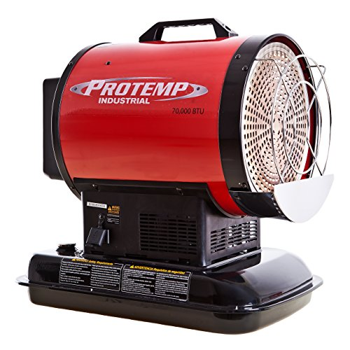 Pro-Temp PT-70-SS 70,000 Btu Kerosene Radiant Sun Stream Heater, L, Red/Black
