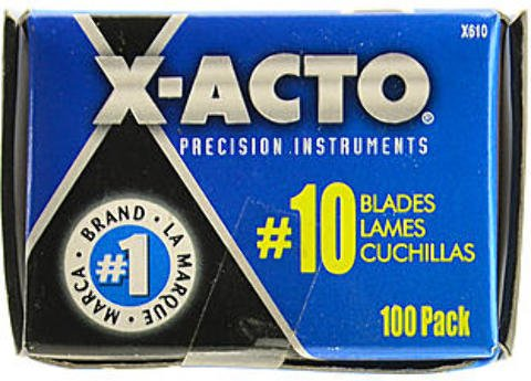 X-Acto No. 10 General Purpose Blades (Pack of 100) 1 pcs sku# 1832906MA by X-Acto