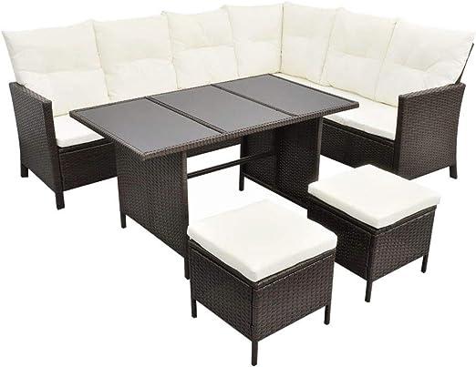 Nishore Set de Muebles de Jardín, Conjunto Muebles Terraza en ...