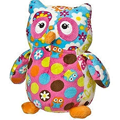 "Mary Meyer Print Pizzazz Olio Owl 7"" Plush - Dots and Flowers: Toys & Games"