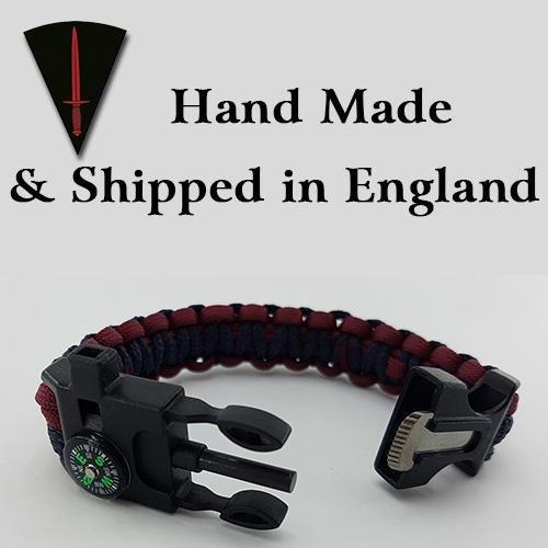 Royal Engineers Inspired Badged Paracord Bracelet