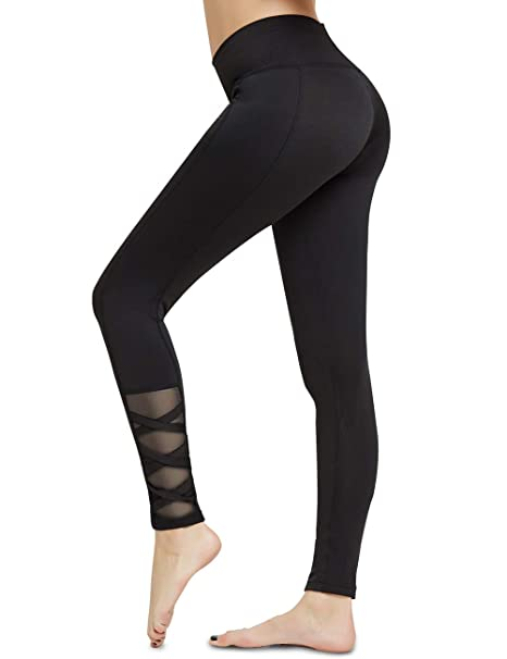 823c51f667cbf Amazon.com: ODUDU Yoga Pants for Women Workout Running High Waist Tummy  Control Yoga Leggings: Clothing