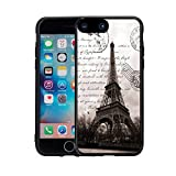 Apple 7 Case iPhone 7 Case (4.7 inches) Black Case TPU - Restoring ancient ways is the Eiffel Tower