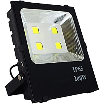 SZPIOSTAR 200W LED Flood Light (1200 Watt Equivalent), 20000 Lumens,Cool White 6000K, 50,000 Hours Lifetime,Waterpoof IP65, Outdoor Light Fixtures for Buildings Yard Garden