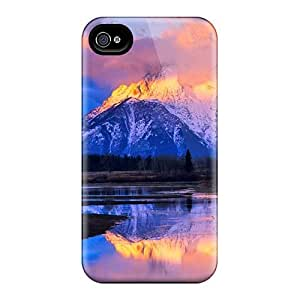 Excellent Iphone 4/4s Case Tpu Cover Back Skin Protector Mount Moran Wyoming
