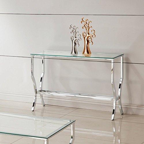 Coaster Glass Console Table Chrome