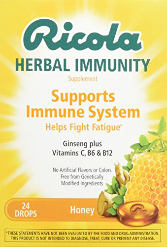 Ricola Herbal Immunity Drops, Honey, 24 Drops
