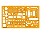 Architect Combination Multi Design Template Stencil Symbols Technical Drafting And Drawing Scale 1:50