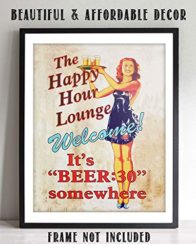 Game 10 Replica - Happy Hour Sign-