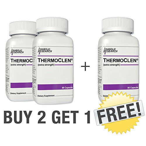 ThermoClen - Buy 2 Get 1 Free - Weight Loss, Stamina, Endurance, Appetite Control - Dietary Supplement. 3 month supply by Dynamic Sports Nutrition