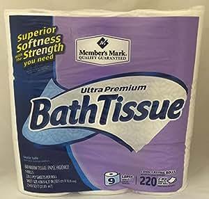 Amazon Com Member S Mark Bath Tissue Ultra Premium 2 Ply 9 Rolls