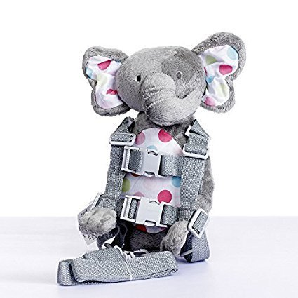 Berhapy 2 in 1 Elephant Toddler Safety Harness Backpack Children's Walking Leash Strap