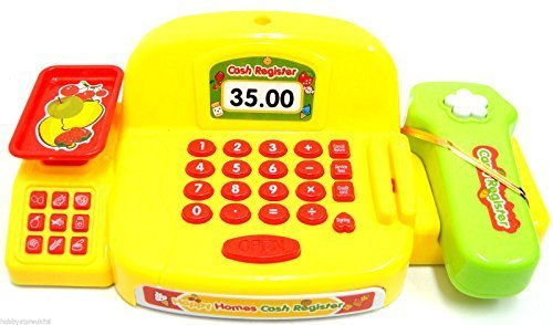 Kids Cash Register Toy Till Pretend Play Shop Childrens Checkout