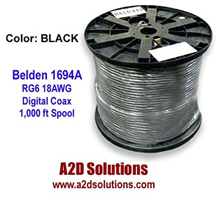 Amazon.com: 1000 ft. Belden 1694a Hd/sdi 18awg Rg6 Serial Digital ...