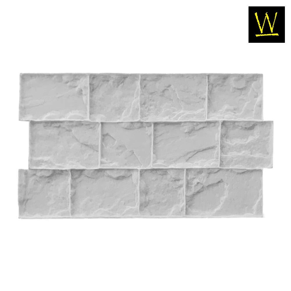 Roman Cobble Concrete Stamp Set by Walttools   Classic Decorative Cobblestone Pattern, Sturdy Polyurethane Texturing Mats, Realistic Detail (Flexible/Floppy) by Walttools