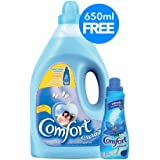 Comfort Fabric Softener Spring Dew, 4 litres with Concentrated Fabric Softener 650 ml
