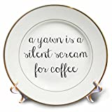 3dRose BrooklynMeme Sayings - Coffee lover - 8 inch Porcelain Plate (cp_256613_1)