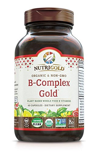 Nutrigold Vitamin B-Complex Gold (Organic, Plant-based, Whole-food) 60 Organic Capsules