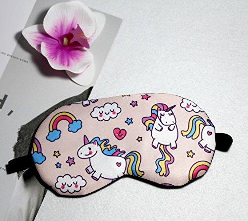 Fashion Unicorn 5Pcs Sleep Mask Cover Lightweight Blindfold Soft Eye Mask for Men Women Kids by Yosbabe (Image #2)