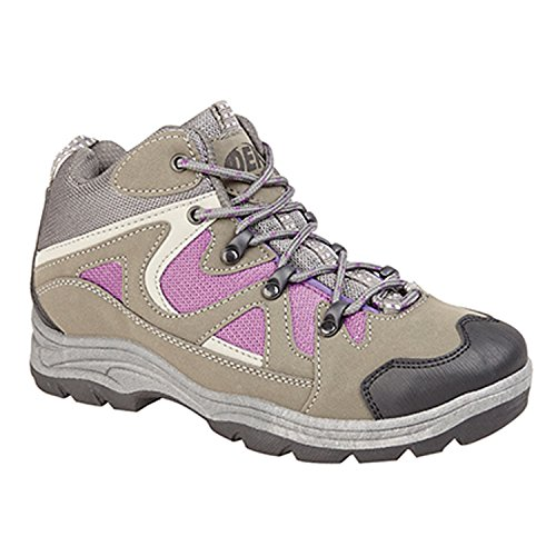 Dek Thirlmere Ladies Mid Ankle Trek & Trail Boot (6 UK, Grey/Lilac)